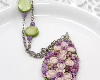 Violet Flower Pendant