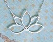 SALE Sterling Bloom Necklace