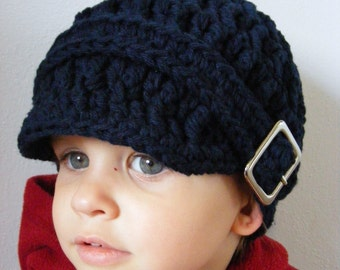 Toddler Hat 2T to 4T Toddler Girl Hat Toddler Boy Hat Square Buckle Beanie Cotton Hat Navy Blue Toddler Hat Trendy Toddler Clothing Warm