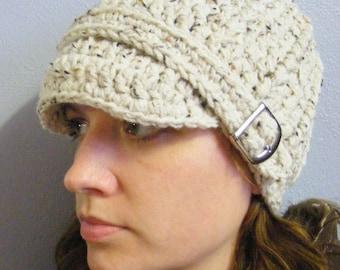 Oatmeal Womens Hat Oatmeal Hat Womens Beanie Oatmeal Beanie Womens Cap Oatmeal Cap Buckle Beanie Crochet Hat Knit Winter Hat
