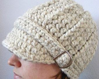 Womens Hat Womens Beanie Womens Cap Wheat Hat Wheat Beanie Wheat Cap Crochet Hat Knit Winter Hat Silver Buckle Beanie Trendy Accessory