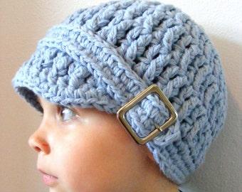 Toddler Boy Hat 2T to 4T Light Blue Toddler Hat Toddler Boy Clothes Crochet Hat Winter Hat Cotton Hat Toddler Boy Beanie Toddler Beanie