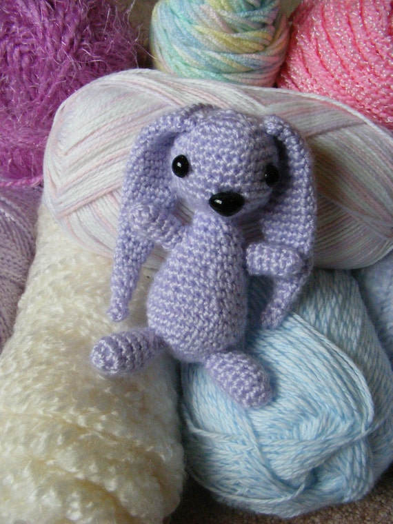 Lulu the Lavender Amigurumi Bunny