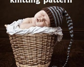 Long Tail Pixie Baby Hat Knitting Pattern in 3 Sizes, PDF 109, INSTANT DOWNLOAD -- Permission to sell hats - Over 35,000 patterns sold