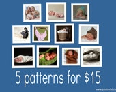 "5 Baby Photo Prop Knitting Patterns for 15 Dollars -- Special ""Buy-the-Book"" Deal, Choosing from ANY of my patterns"