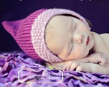 Gnome Chin Strap Baby Hat Knitting Pattern PDF Number 114 -- INSTANT DOWNLOAD -- Over 35,000 patterns sold