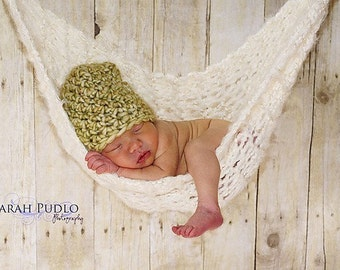 Off-White Baby Hammock Newborn Photo Prop -- Off White is Ready to Ship -- Over 1,000 hammocks sold -- Original Designer