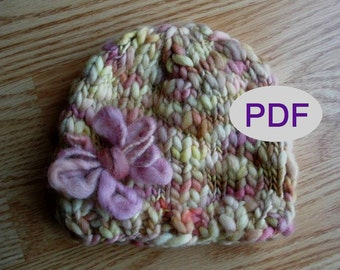 Beanie Knitting Pattern PDF 301 for Thick Thin Hand Dyed Yarn, INSTANT DOWNLOAD -- Permission to Sell Hats-- over 35,000 patterns sold