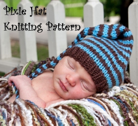 Long Tail Pixie Baby Hat Knitting Pattern in 3 Sizes PDF ...