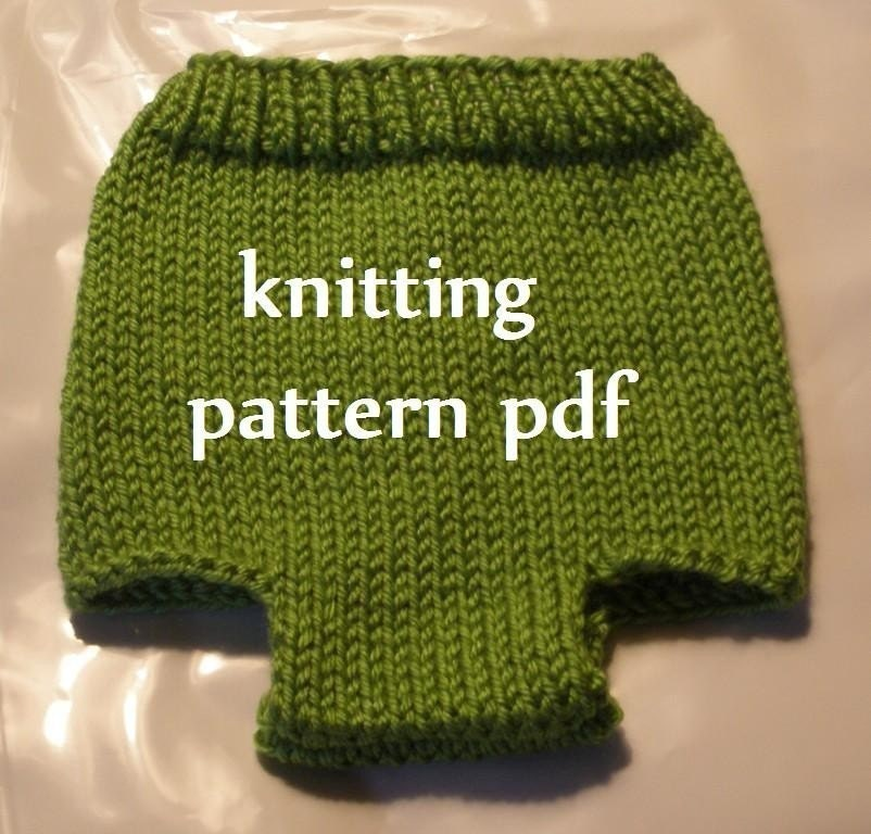 Knitting Pattern Numbers : Diaper Cover Knitting Pattern in 3 Sizes, PDF Number 107 & 108, INSTANT D...