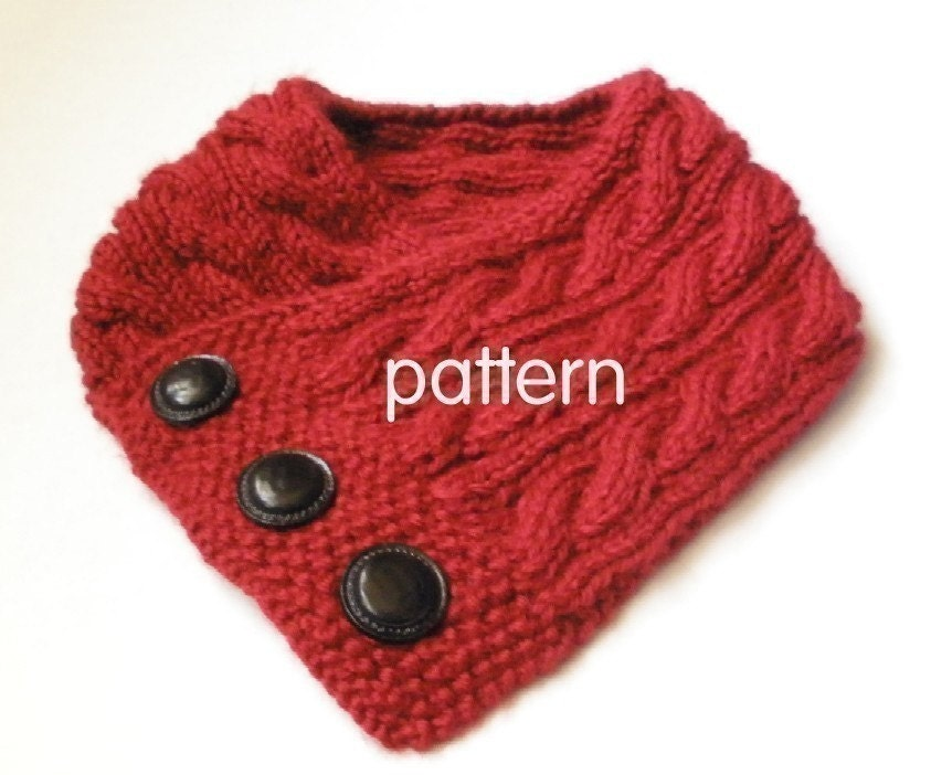 Cabled Neck Warmer Knitting Pattern PDF Permission by 4aSong