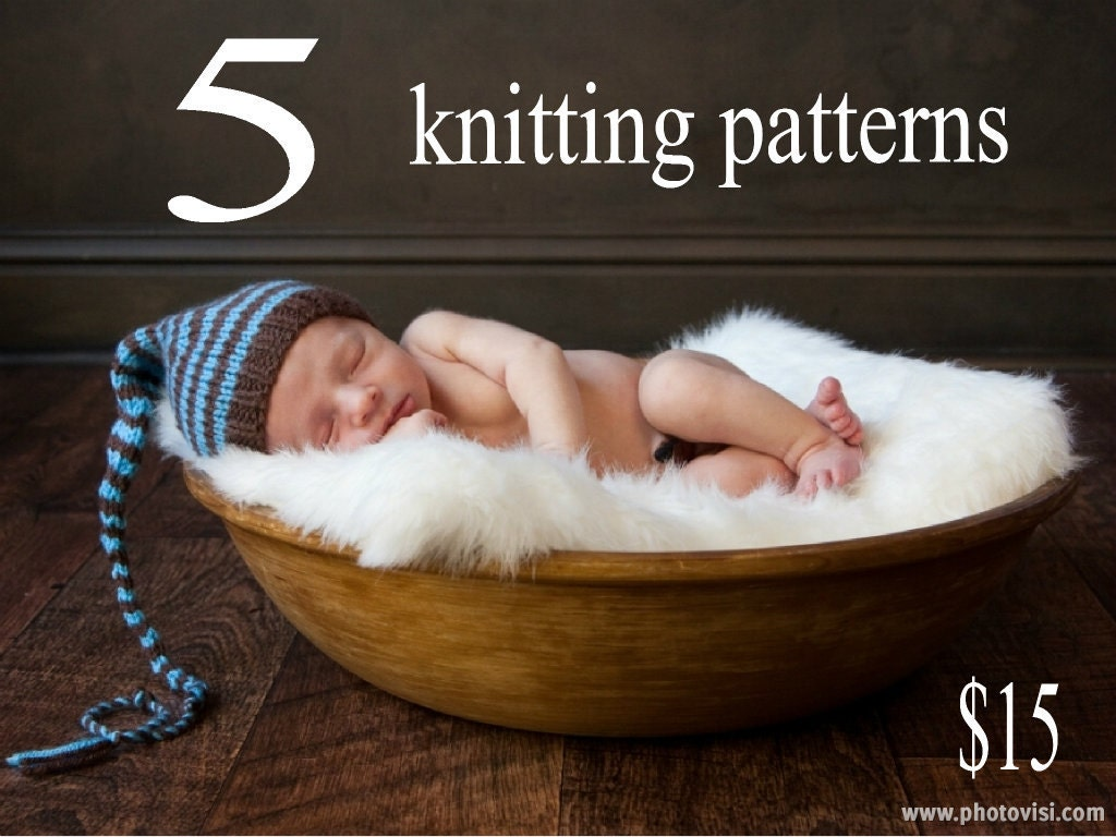 5 Baby Photo Prop Knitting Patterns for 15 Dollars -- Make Your Own Photo Pro...