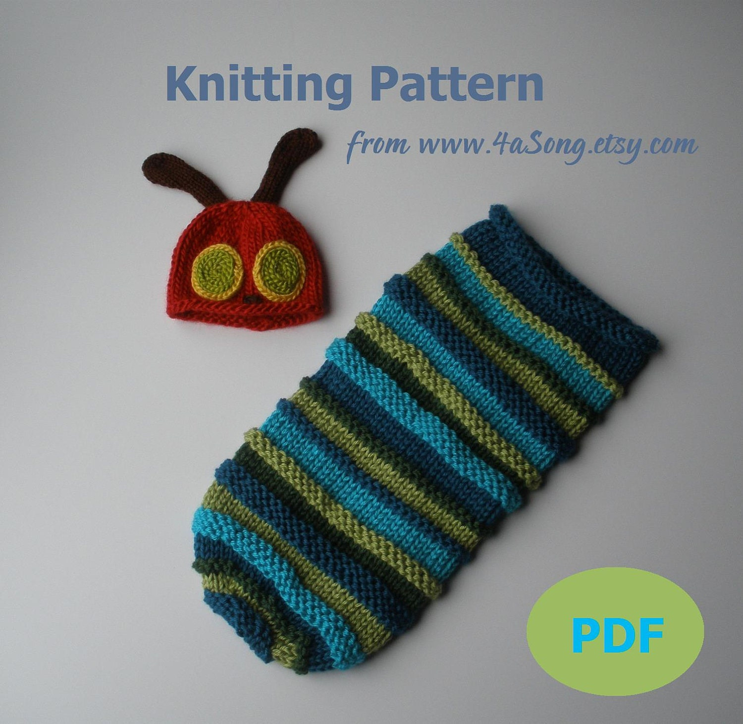 Hungry Caterpillar Baby Knitting Pattern : Hungry Caterpillar Cocoon Crochet Pattern Party Invitations Ideas