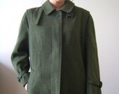 RESERVED JACKET SALE hunter green wool Burberry jacket ( m )