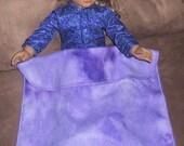 Purple Fleece Doll Blanket for American Girl Doll - Free Shipping