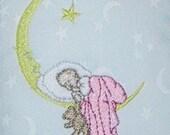 Door Knob Hanger Sleeping Baby in the Moon