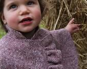 hayride ruffle cape tweed