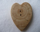Wood Button Corazon
