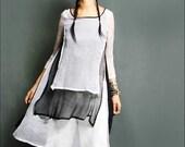 a dream lighter than a cloud - silk tunic dress (Q1014)