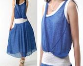 Aegon 3 - dual fabric sleeveless dress (Q1212)