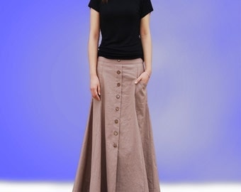 No.6 maxi skirt - less is more line(Q1019)