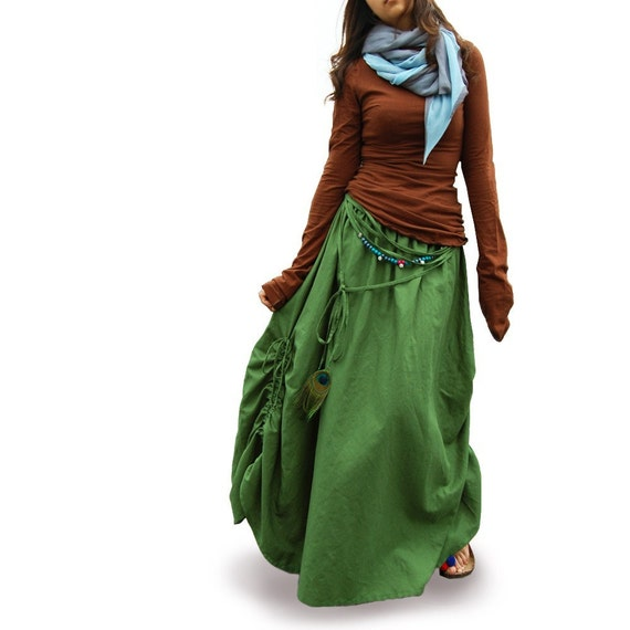 peacock maxi skirt q1028 by idea2lifestyle on etsy
