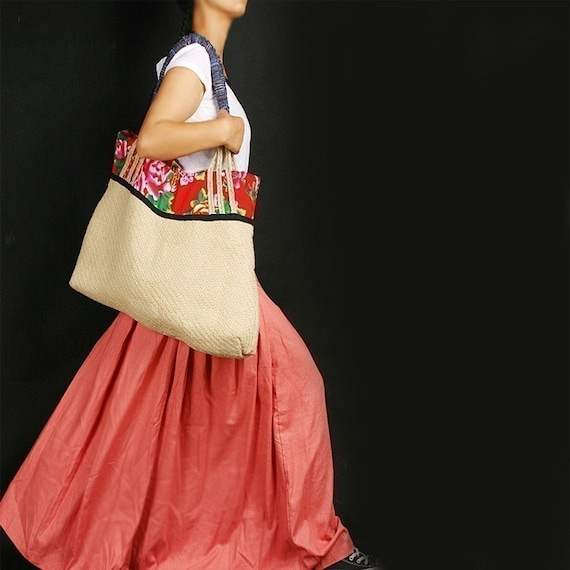 Red Pocket maxi SKIRT (coral) less is more line (Q1001)