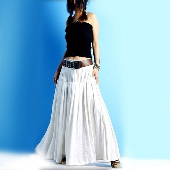 butterflies are free - hand pleated maxi skirt (Q1008)