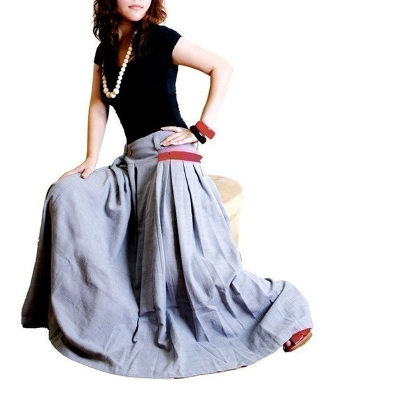 less is more RED POCKET - long skirt (Q1001)