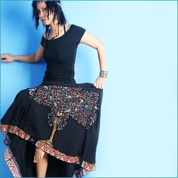 little buddha maxi skirt (Q1004)