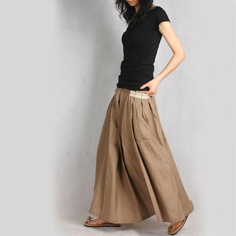 Less is more silky linen Long Skirt Q1001