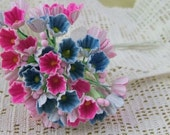 Vintage Bright and Colorful Bouquet of Forget-Me-Nots - May Melee - Package of 10 Bouquets - Bargain