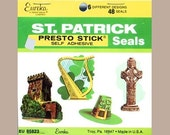 Vintage Eureka St Patrick's Day Stickers - Self Stick Adhesive