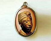 Yoruba Ife Heritage Princess Vitreous Enamel Pendant