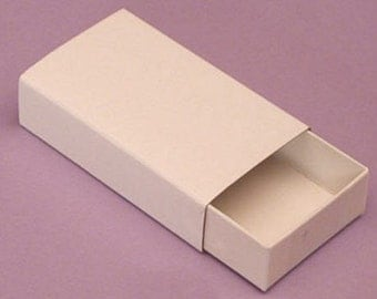 Set of 6 Plain Sliding Matchboxes - Bargain