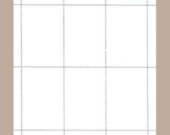 Blank Artistamp Sheet - Size Large (6 stamps)