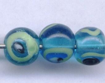 10 MINI Evil Eye Beads