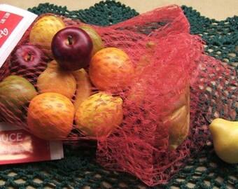 Plastic Net Fresh Produce Bags - Set of 5