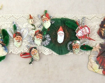Set of 9 Sample Christmas Ornaments using SilverCrow Creations Products and 1 Vintagage Package Tie-On - SALE - HALF OFF - Was 7.00 Now 3.50