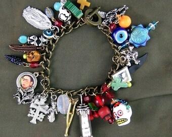DIY Day of the Dead Charm Bracelet Kit - Make this Bracelet Yourself - BARGAIN