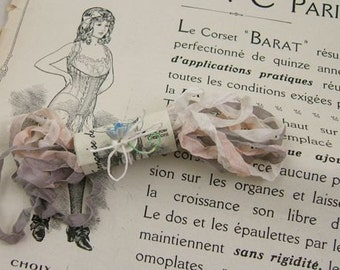 Gorgeous Vintage-Style Crinkled French Lingerie Ribbon in Manzanita
