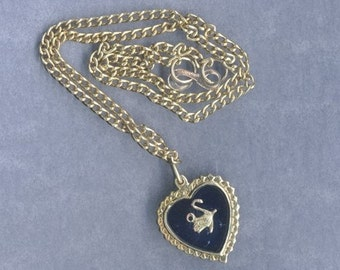 10 Vintage Goldtone Novelty Swan Necklaces - Same Price - Twice as Many - Use as Pendants or Charms - More for Your Money