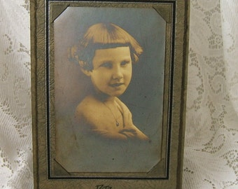 Vintage 1920s Sepia Toned Photograph - Miss Cegler - 7th Street - Donora, Pennsylvania - DATZ Photographer