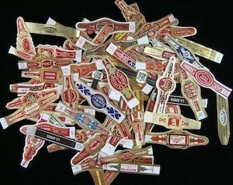 Package of 80 or More Unused Vintage Cigar Bands - Embossed and Die Cut