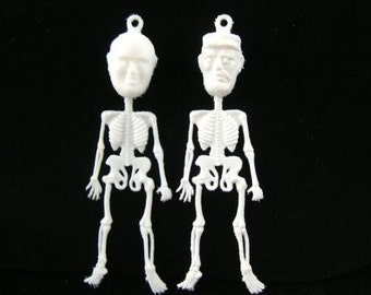 VINTAGE Day of the Dead Communist Leaders - Plastic Charms - Very Odd