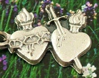 3 Due Cuori (Two Hearts) Charms