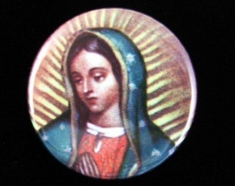Our Lady of Guadalupe (Nuestra Virgin de Guadalupe) Pinback Button (Badge) - Set of 5