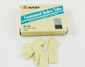 Vintage Gummed Index Tabs - Package of 50