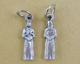 2 Little Saint Kateri Tekakwitha Medals - Charms - Patron Saint of the Environment, Patron Saint of Ecology, Patron Saint of Lost Parents