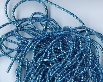 Aqua or Teal Krausbouillion - Old Fashioned Crinkle Wire Metal Tinsel